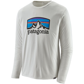 Patagonia Cap Cool Daily Graphic T-shirt à manches longues Homme, fitz roy horizons/white